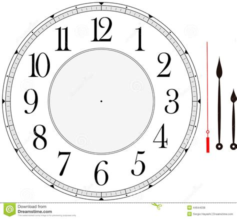 make your own clock template clock stock vector image 44644038