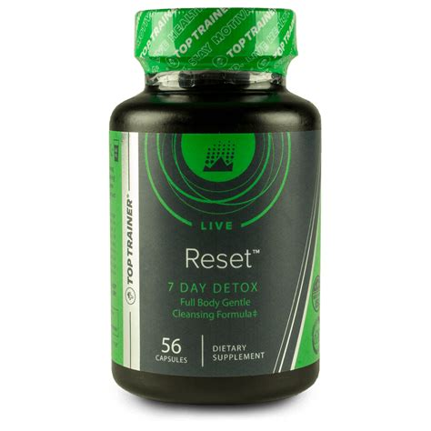 Reset Detox Stack reset 7 day detox supplement from toptrainer 174
