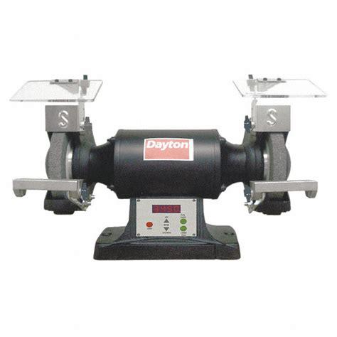 grainger bench grinder dayton 8 quot bench grinder 120v 1 1 2 hp 1800 3450 3600 max rpm 5 8 quot arbor 12