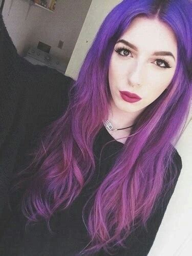 pretty colored hair alternative colored hair dyed hair fashion