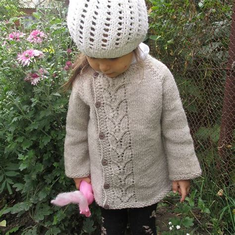 leaf pattern baby sweater free pattern leaves and sweater patterns on pinterest