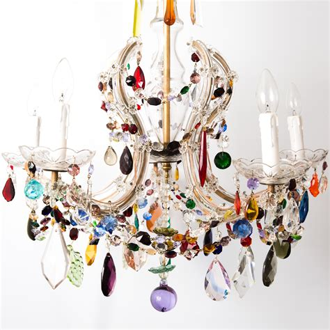 colorful chandeliers 12 best collection of colourful chandeliers