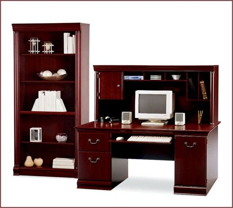 desk for bookcase attached home design ideas