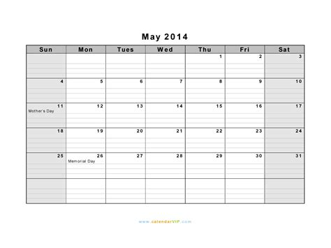 may calendar 2014 template may 2014 calendar blank printable calendar template in