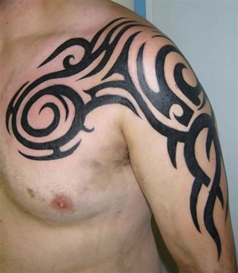 celtic shoulder tattoos for men 50 tribal tattoos for inspirationseek