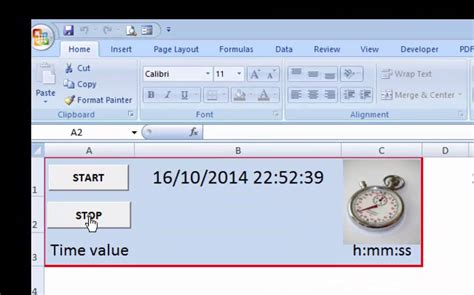 Excel Stopwatch Template From Accountancytemplates Com Youtube Excel Stopwatch Template