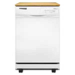 Lowes Portable Dishwashers Shop Whirlpool 24 1 8 In Portable Dishwasher With