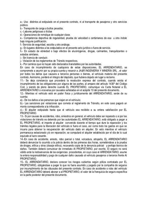 contrato de alquiler peru 2016 contratos de alquiler 2016 contrato de alquiler 2016
