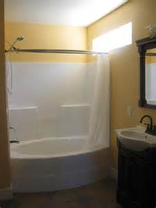 corner bathroom design idea for small space with oval tub shower bath combo home design ideas pictures remodel and