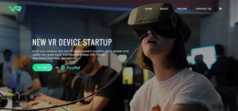 Vr Startup Bootstrap Html Template Hangga Web Id Vr Website Template