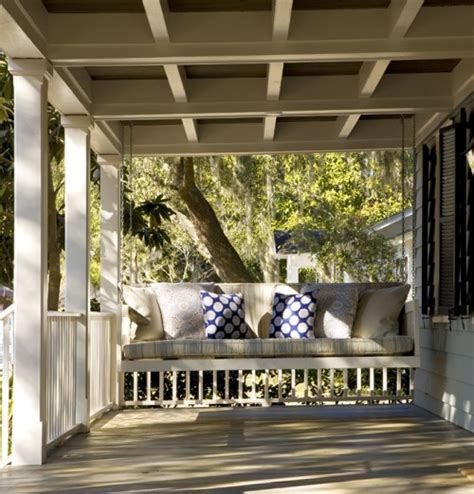 swing on front porches porch swing beds cypress moon porch swings s blog