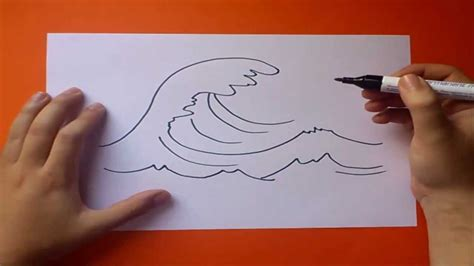 dibujo barco con olas como dibujar una ola paso a paso how to draw a wave