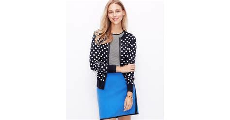 Dress Cardigan Polkadot lyst polka dot cardigan in blue