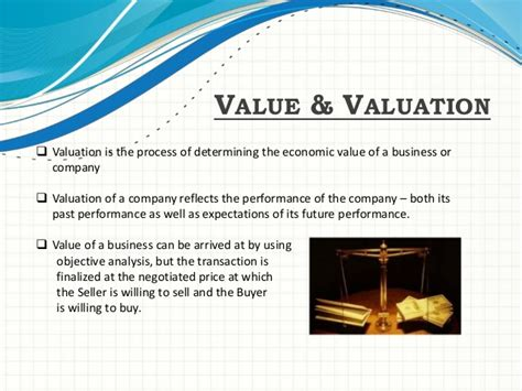 Business Valuation by Company Valuation Presentation