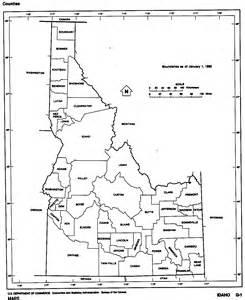 Idaho County Map Outline by Idaho Free Map