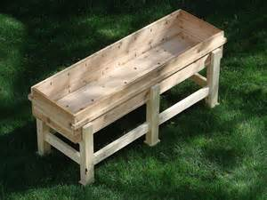 diy recycled wood garden planter boxes with legs for patio