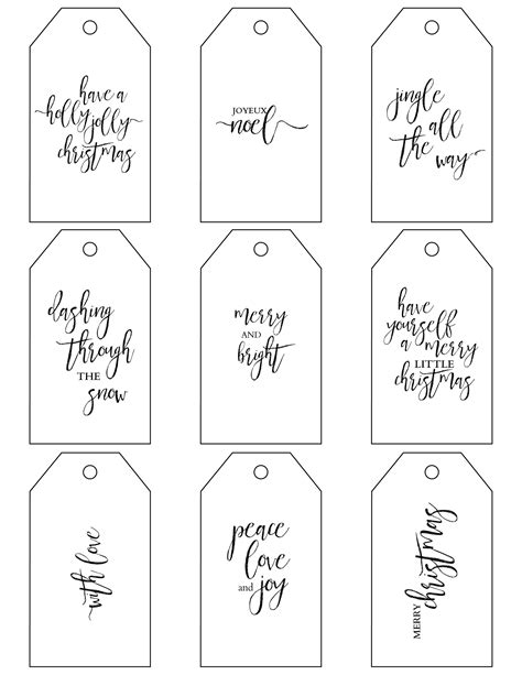 printable holiday gift tags to color free christmas gift tag printables