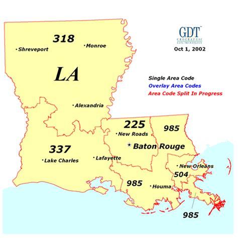Louisiana Phone Number Lookup Louisiana Area Codes Map Map