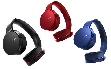 Headset Sony Bass Bluetooth Headphone Mdr Xb950b1 Blue what s your colour sony bass headphones series got you covered