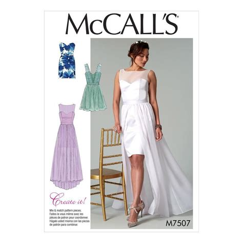 sewing pattern evening dress mccall s sewing pattern misses wedding prom evening