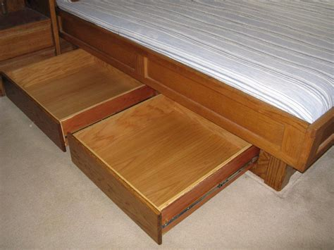 Drawer Bed Frame King Pdf Diy Plans King Bed Frame With Drawers Plans Garage Cabinets Furnitureplans