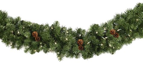 lighted christmas garland winchester fir prelit