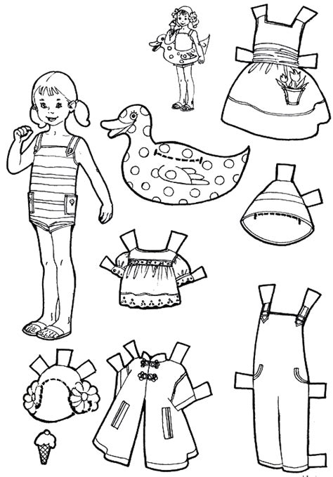 How To Make Cut Out Paper Dolls - free coloring pages of cut out paper dolls
