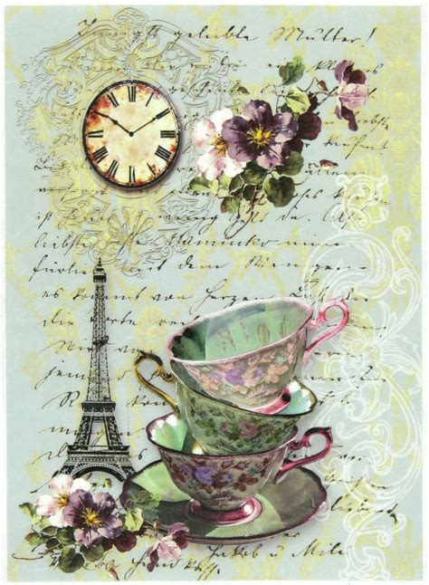Papercraft Scrapbooking - rice paper for decoupage scrapbook sheet craft paper tea
