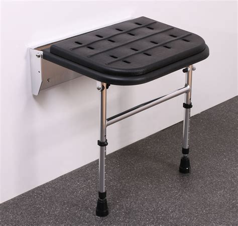 disabled shower seat wall mounted premium black padded wall mounted shower seat with legs