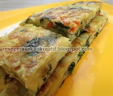 membuat omelet daging resep omelet telur dadar sayur sederhana aneka resep