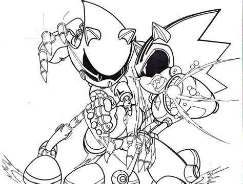 metal sonic coloring pages coloring pages