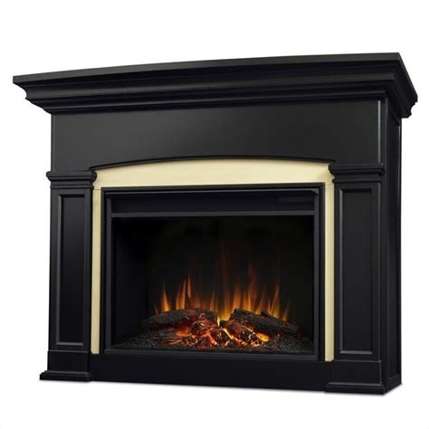 real holbrook electric grand fireplace in black
