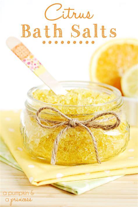 Easy Handmade Diy Bath Salts - citrus bath salts a pumpkin and a princess
