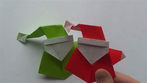 Easy Santa Origami - how to make an origami santa claus curious