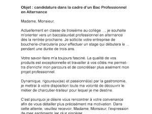 Lettre De Motivation Stage Bac Pro Lettre De Motivation Bac Pro Alternance Par Lettreutile