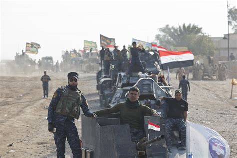 mosul shows difficulty of removing shiite militias join the battle as iraqis push toward mosul