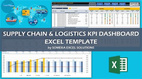 Supply Chain Logistics Kpi Dashboard Excel Template Youtube Logistics Monthly Report Template