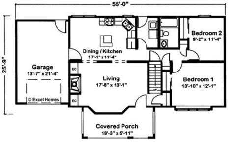 exle building plans developer 2 bedroom house cape vincent by excel modular homes cape cod floorplan