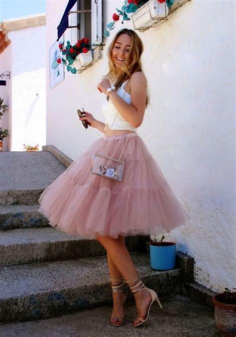 Rok Tutu Katun Salur Pink pink plain grenadine high waisted layers of tulle tutu skirt skirts bottoms