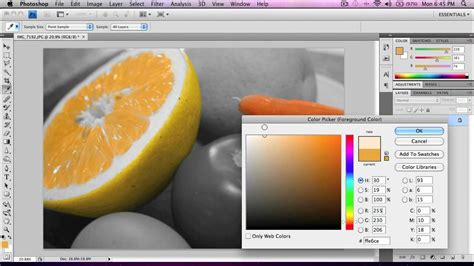 add color photoshop tutorial add color to a black white photo