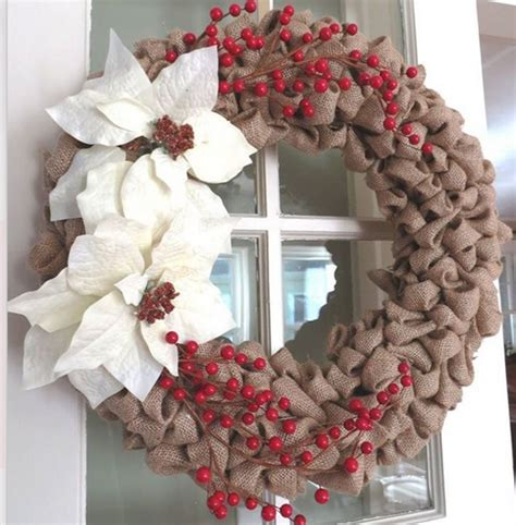 diy christmas wreath ideas burlap and faux berries click