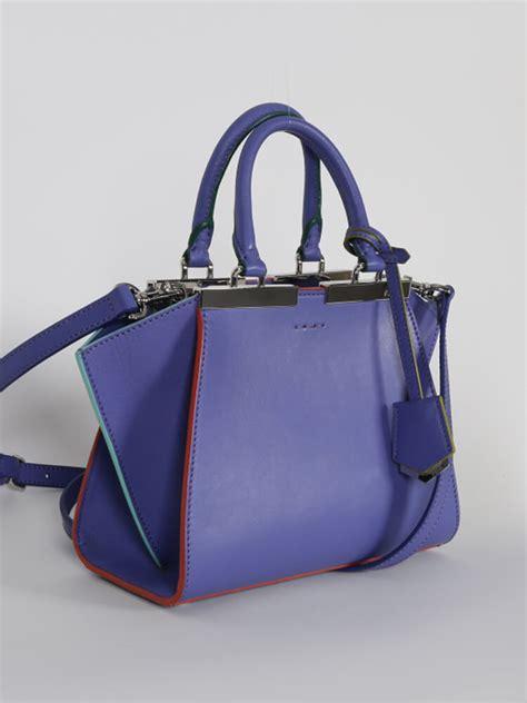 Fendi Shopper fendi 3jours mini leather shopper bag purple luxury bags