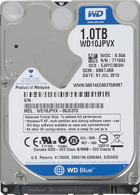 Wdc 2 5 1tb Sata 8mb Scorpio Blue ổ cứng wd 1tb wd10jpvx sata 6gb s 5400 rpm cache 8m