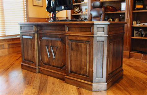 Custom Home Office Desk Custom Executive Desk Traditional Home Office Denver By Haak Designs Llc