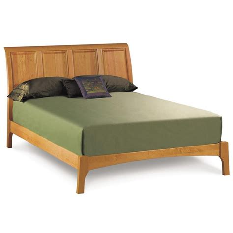 Sleigh Bed Low Footboard by Cherry Wood Sleigh Bed Low Footboard American