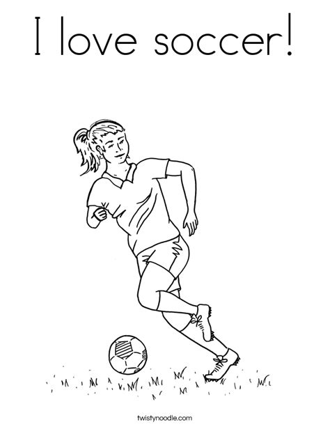 coloring page soccer girl i love soccer coloring page twisty noodle
