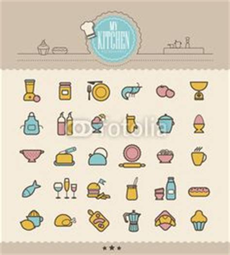 icons ustensiles ingredients de cuisine pictogramme