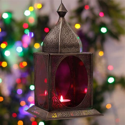 Handmade Diwali Lantern - home decor candles diwali illuminati fez lantern