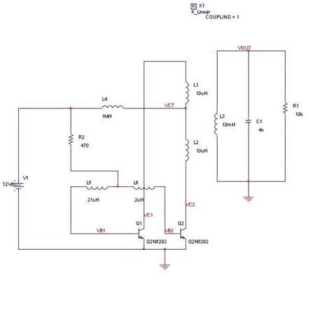 inductance reflected impedance tharks dc ac cfl inverter schematics