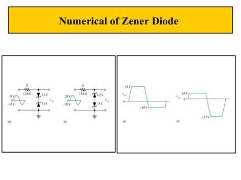 zener diode temperature coefficient zener diodes